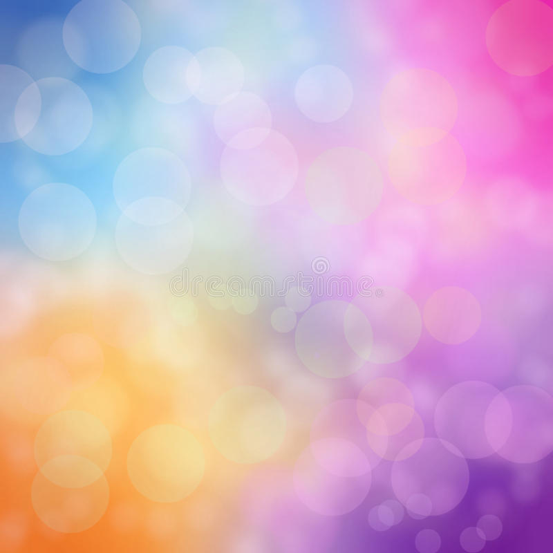 Rainbow blur bokeh abstract royalty free stock photo