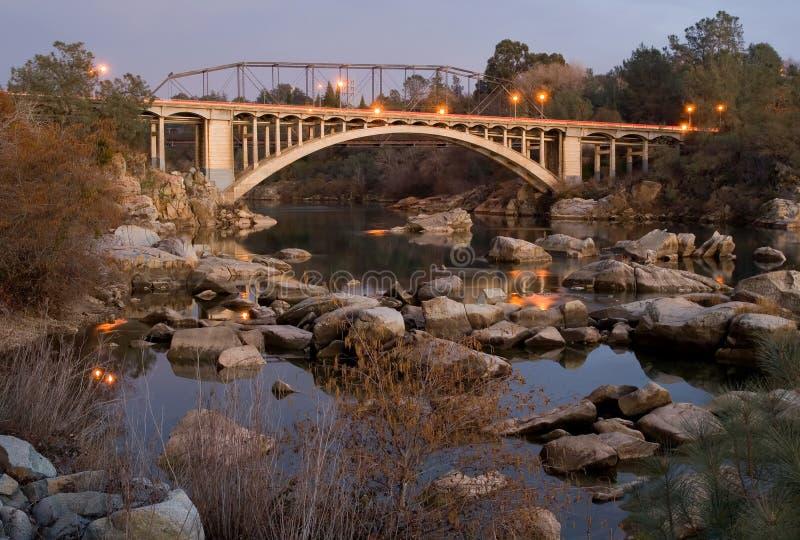 Rainbow Bridge in Folsom stock photography
