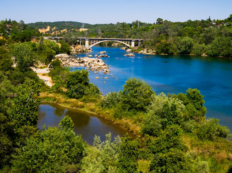Rainbow Bridge in Folsom stock image