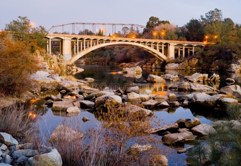 Rainbow Bridge in Folsom California stock image