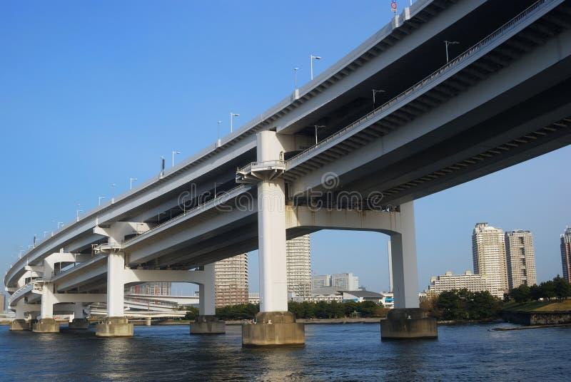 Rainbow Bridge, Tokyo, Japan stock photo