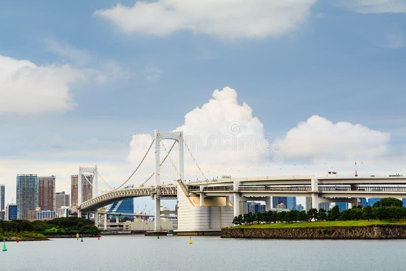 Rainbow Bridge in Tokyo royalty free stock photography