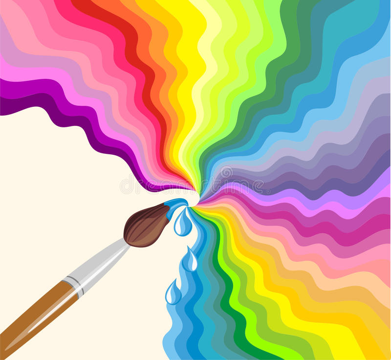 Rainbow brush stock illustration