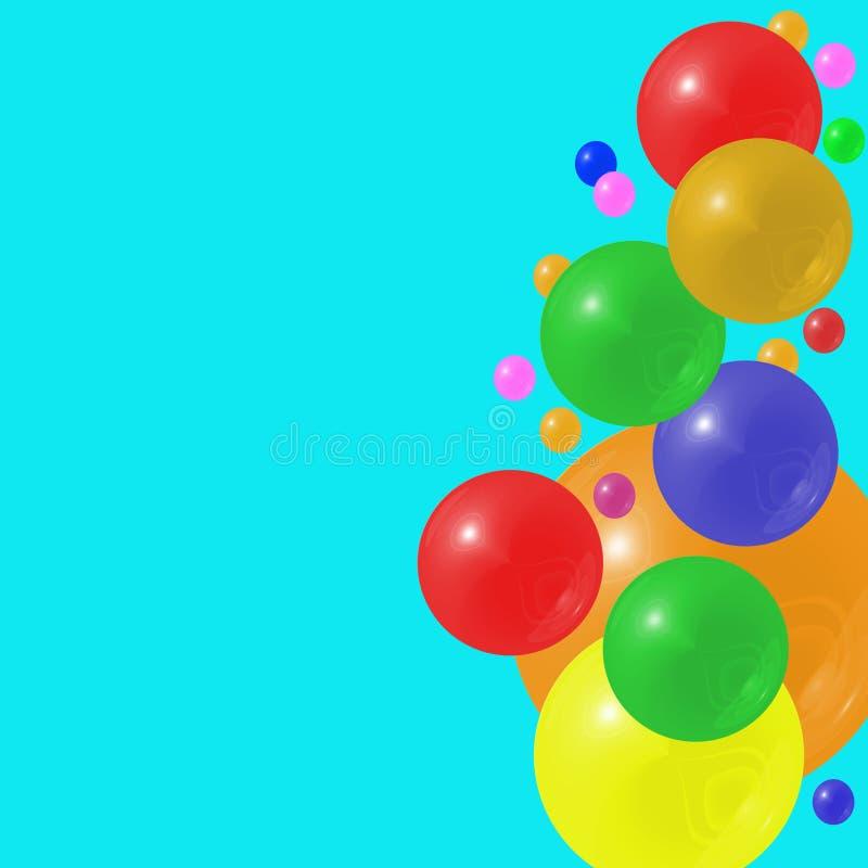 Rainbow Bubble Border vector illustration
