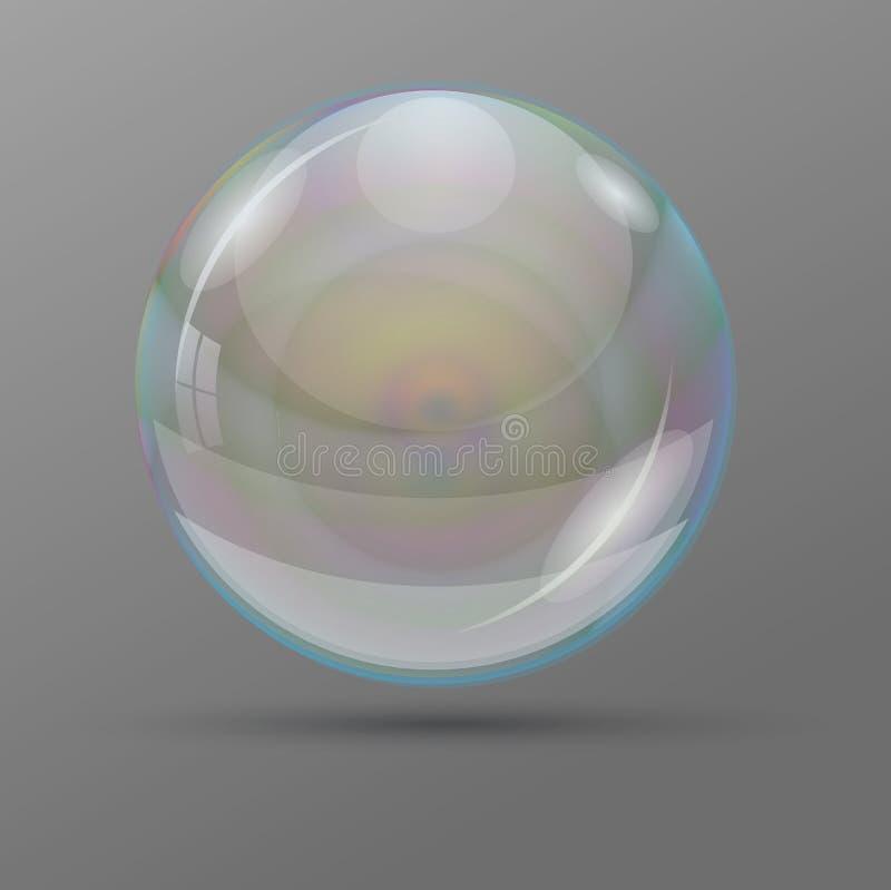 Rainbow bubble on gray background. vector illustration. Transparent drop. Rainbow bubble on gray background. vector illustration. Transparent drop vector illustration