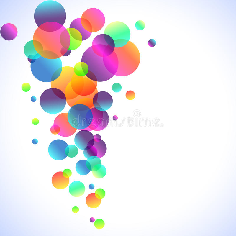 Rainbow Bubbles Background for Elegant Flyers stock illustration