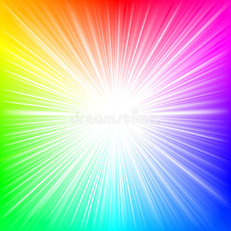 Download Rainbow burst stock vector. Illustration of pink, poster - 19578253