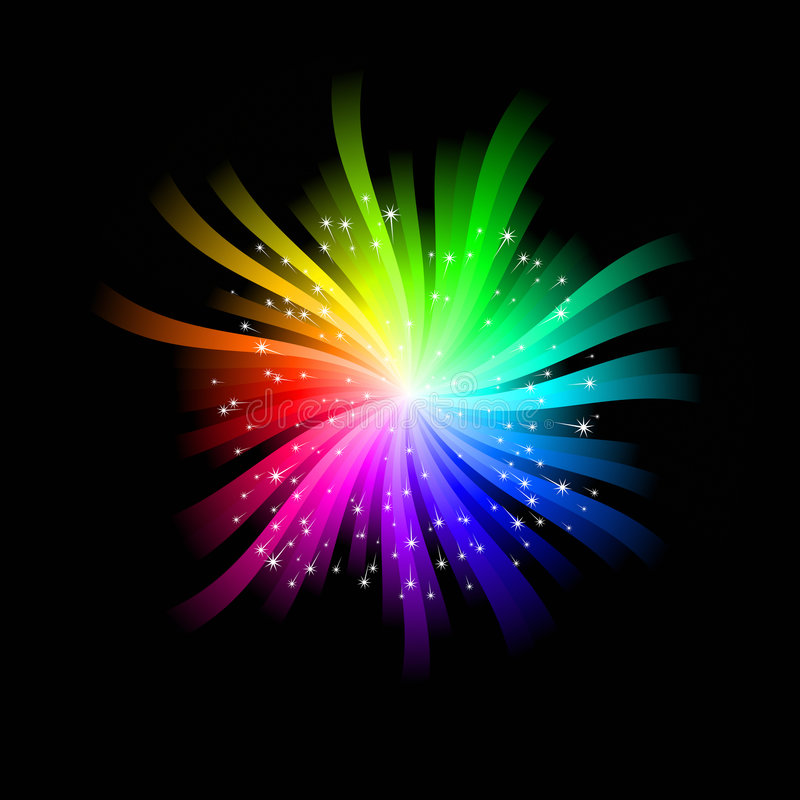 Download Rainbow Burst stock vector. Image of purple, background - 7235986