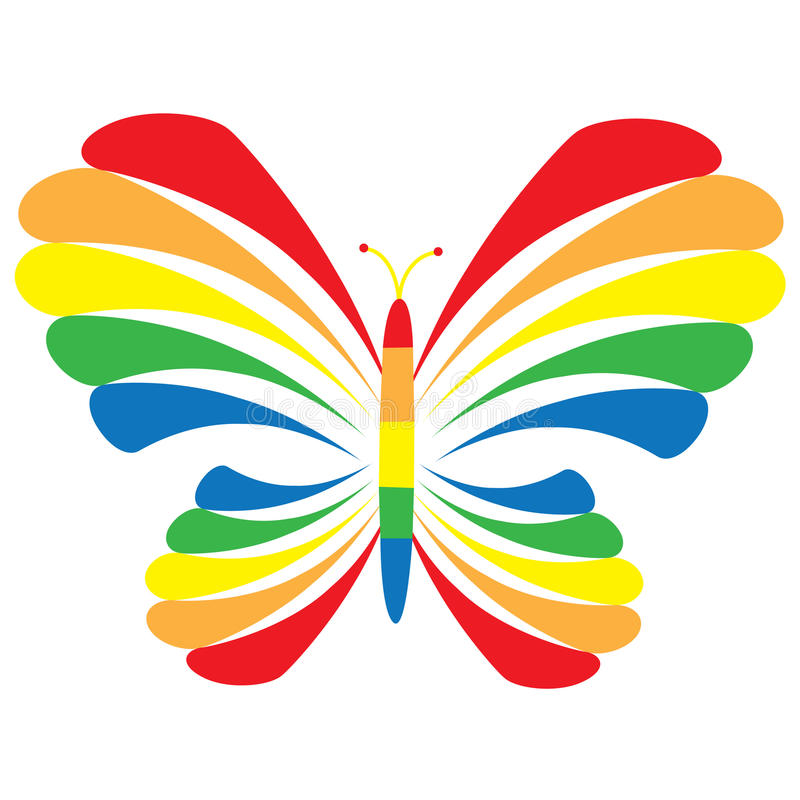 Rainbow Butterfly stock illustration