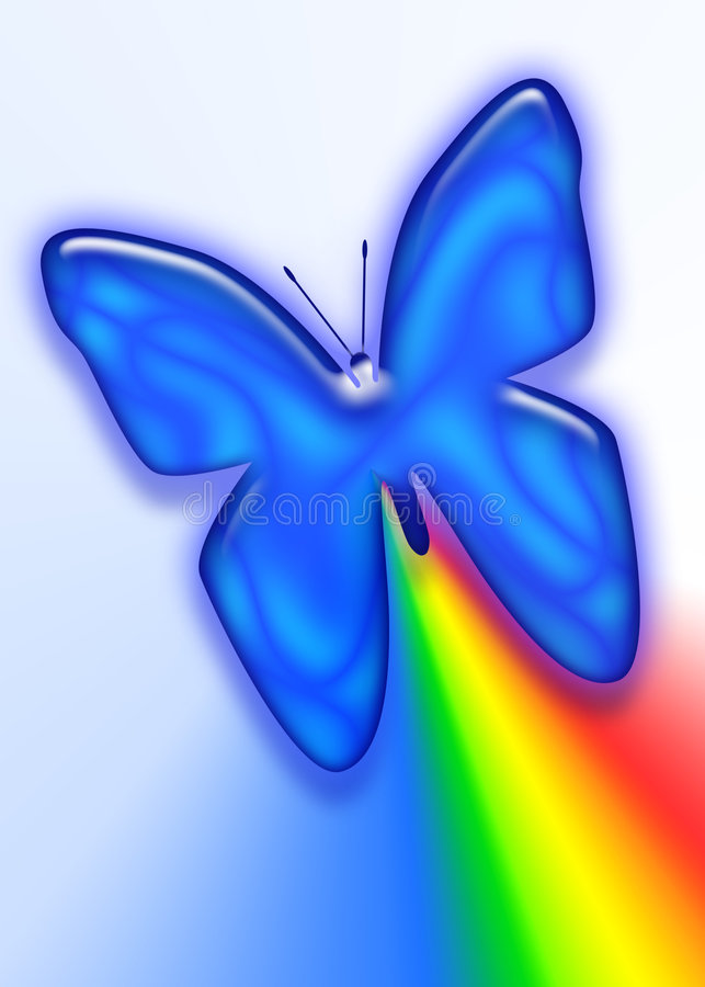 Rainbow Butterfly stock images