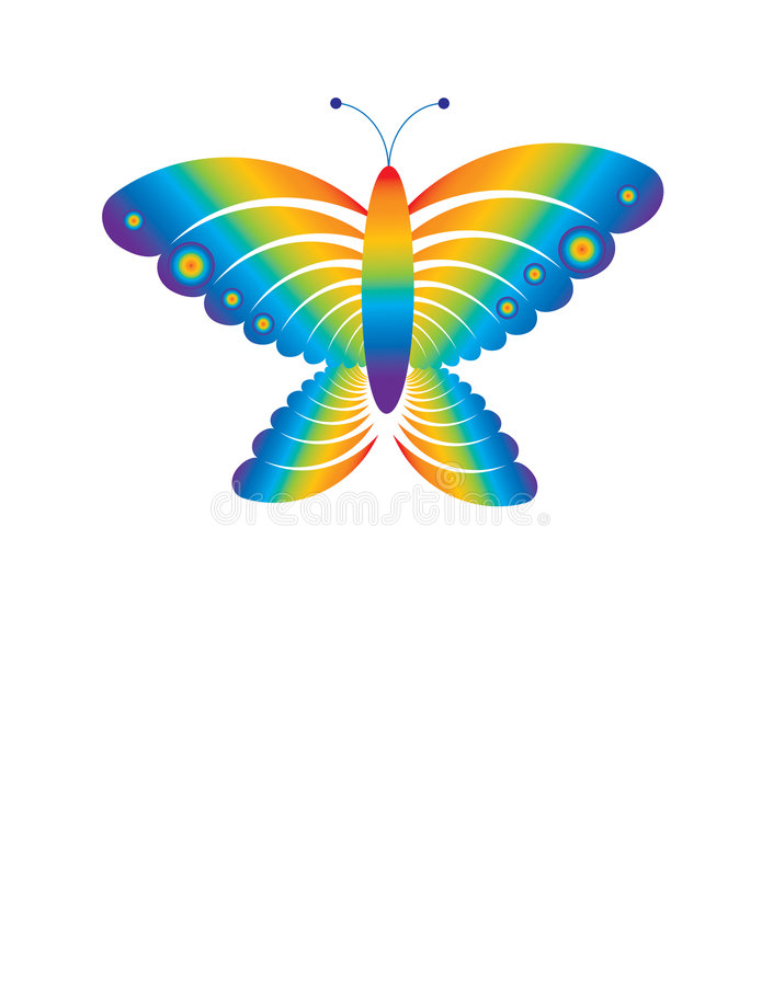 Free Rainbow Butterfly Royalty Free Stock Photos - 7468098