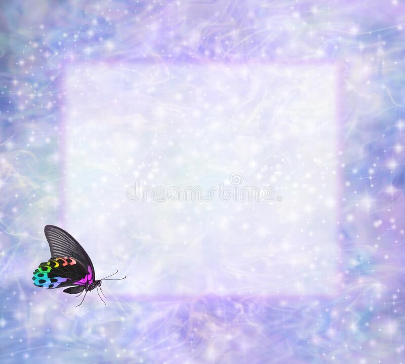 Free Rainbow Butterfly Frame For Your Spiritual Messages Royalty Free Stock Image - 173949246