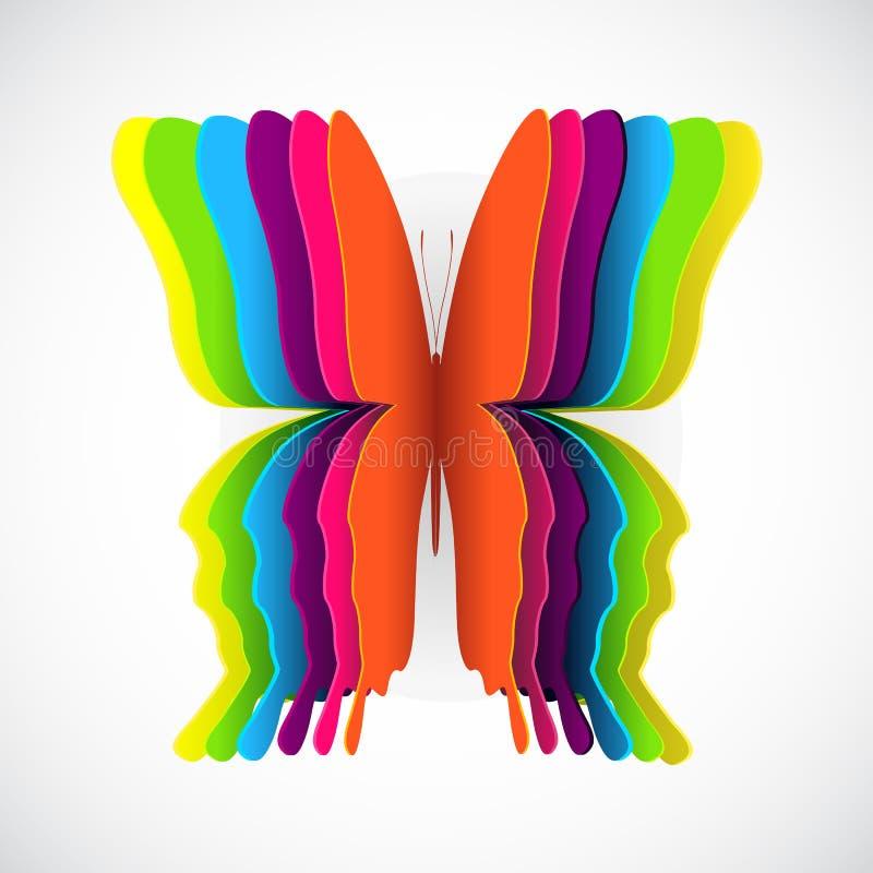 Rainbow butterfly royalty free illustration