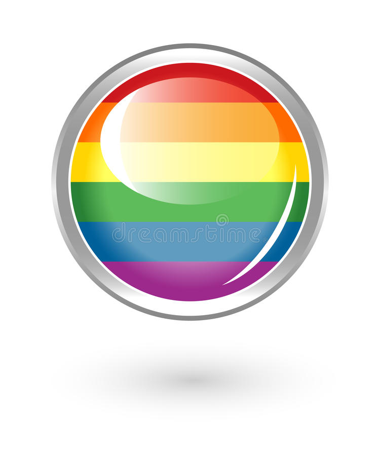 Download Rainbow button stock vector. Image of demonstration, icon - 23214271
