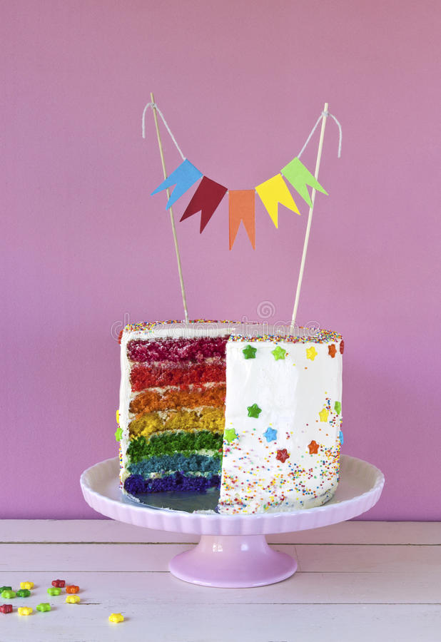 Rainbow cake royalty free stock image