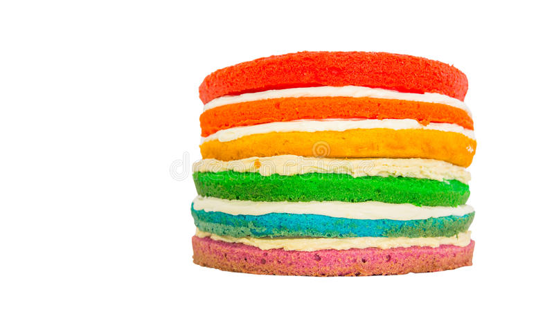 Download Rainbow Cake IV stock image. Image of green, color, cake - 34178485