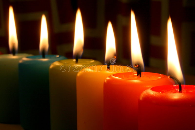 Download Rainbow Candles Stock Photography - Image: 4296672
