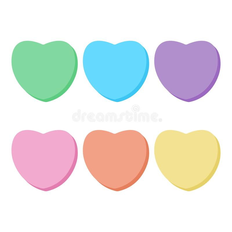 Free Rainbow Candy Hearts Collection Royalty Free Stock Photos - 137940078
