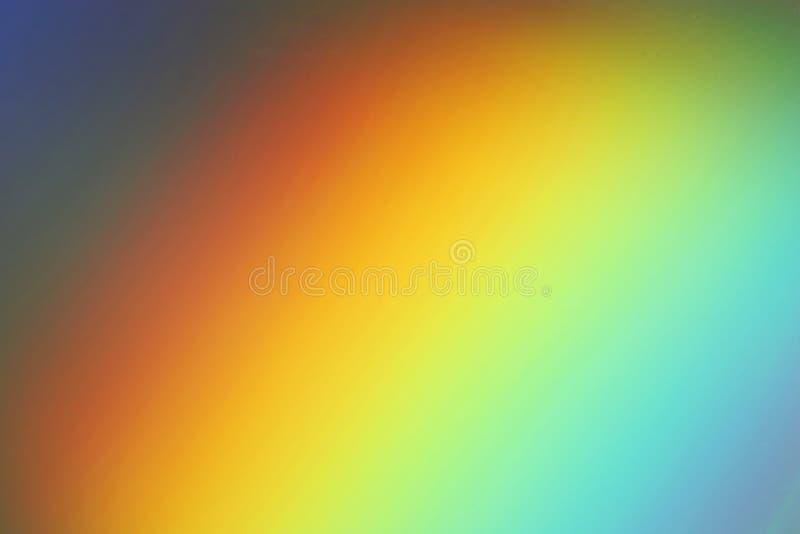 Rainbow on a CD royalty free stock photo