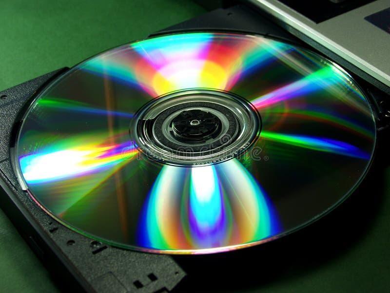 Rainbow cd rom royalty free stock photos