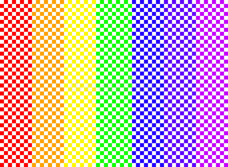 Download Rainbow Checkerboard stock illustration. Image of check - 12334076