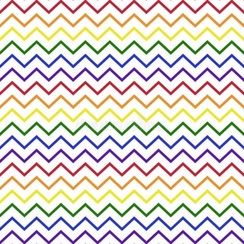 Rainbow Chevron Seamless Pattern vector illustration