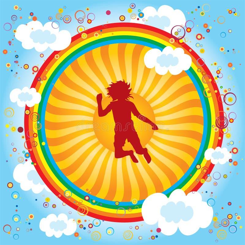 Rainbow-children-sun