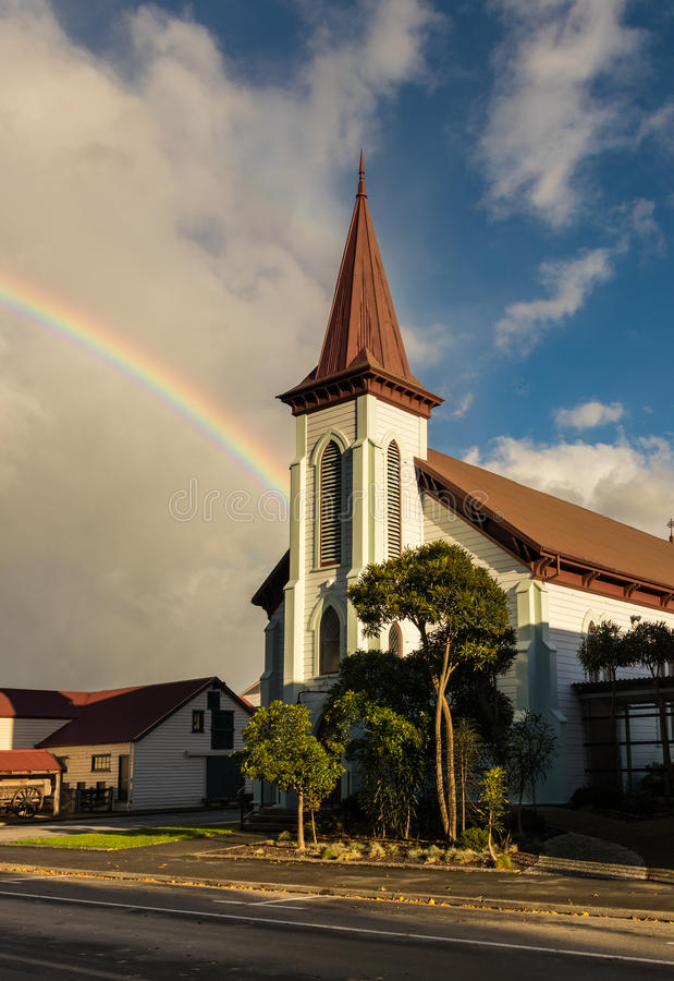 Download Rainbow Church stock image. Image of landmark, building - 91513551