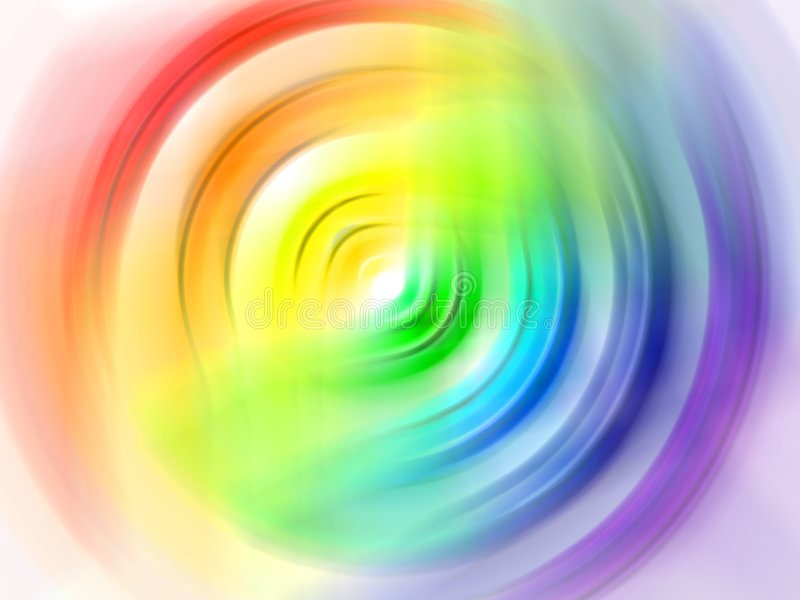 Rainbow circle stock image