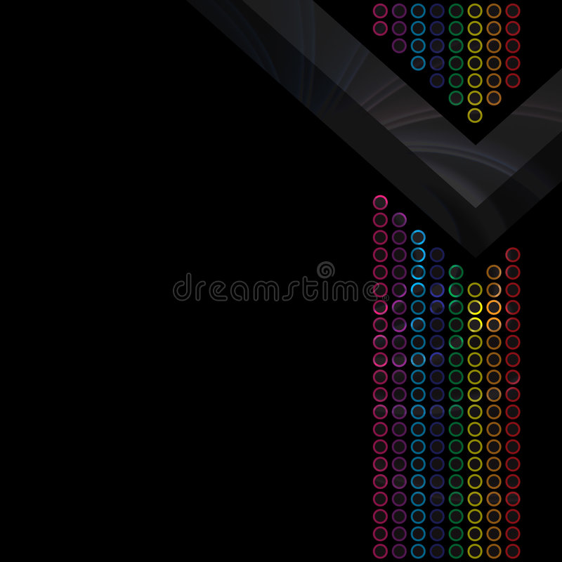 Download Rainbow Circles Layout stock illustration. Image of flowing - 8529756