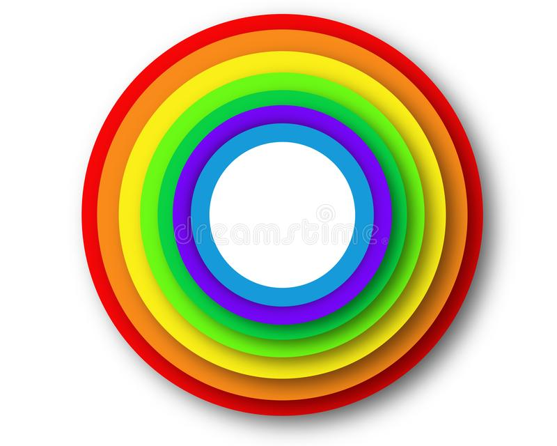 Rainbow circles pattern- business picture poster, super quality. Very high quality vector graphics. On this picture you can see motivational slogan an royalty free stock photos
