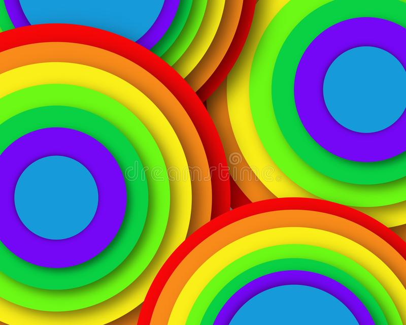 Rainbow circles pattern- business picture poster, super quality. Very high quality vector graphics. On this picture you can see motivational slogan an stock images