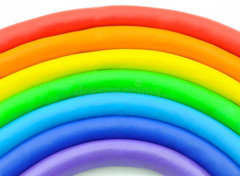 Rainbow clay plasticine stock photography
