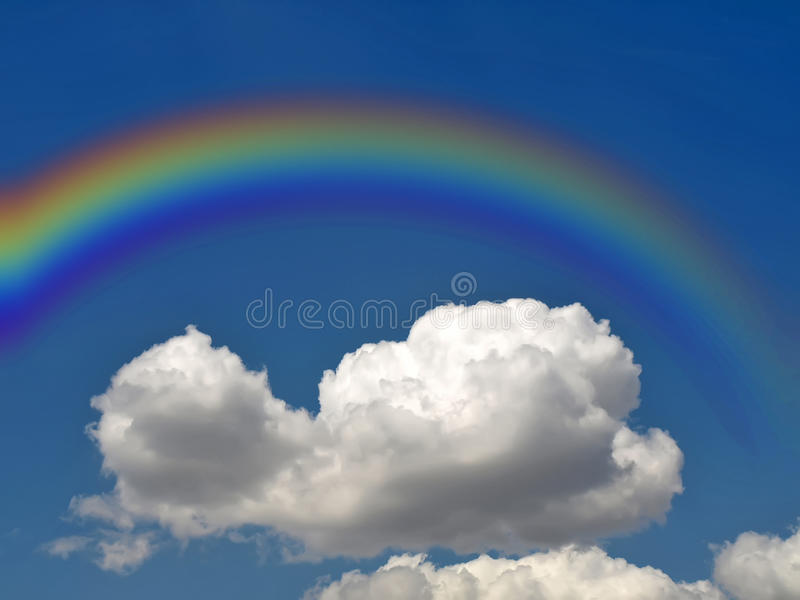 Download Rainbow and cloud stock photo. Image of scenics, space - 15672312