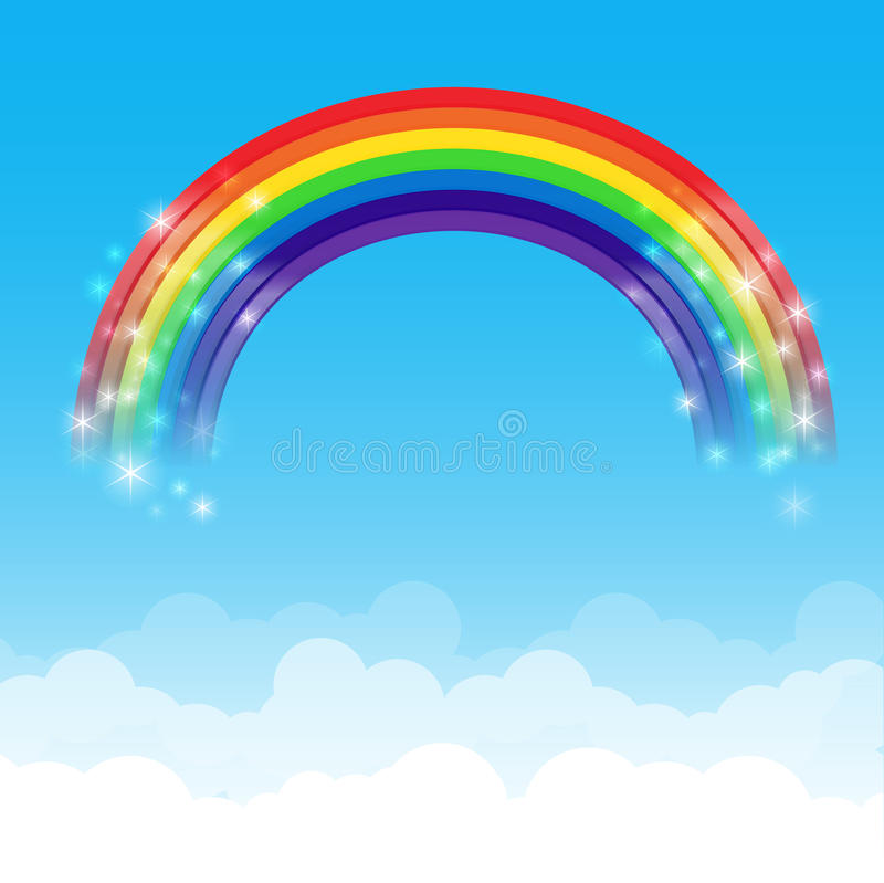 Free Rainbow Cloud And Sky Background 002 Stock Images - 51611994