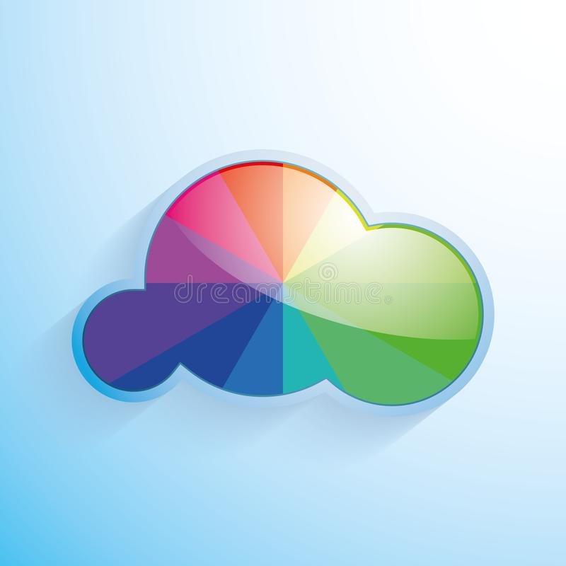 Rainbow cloud royalty free stock images