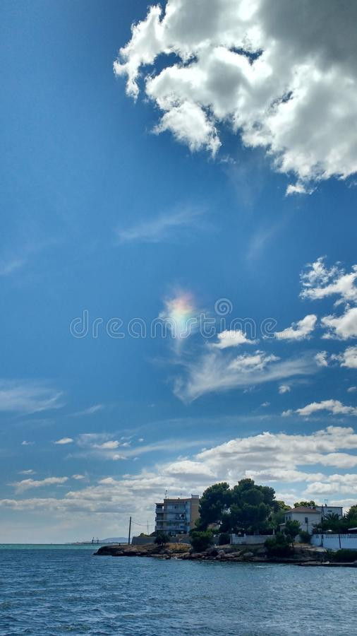 Rainbow cloud royalty free stock image