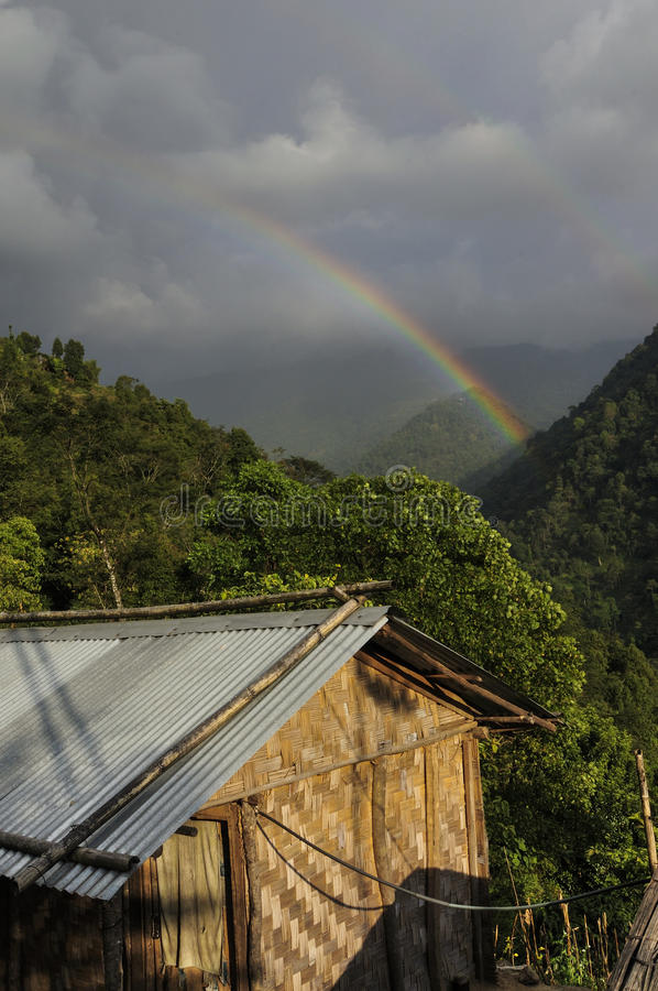 Download Rainbow On Cloudy Sky , Sikkim Stock Photo - Image: 34335326