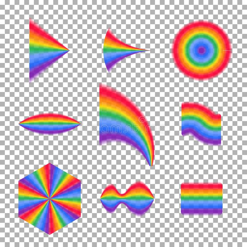 Rainbow collection. transparent rainbow vector. Abstract illustration eps10 stock illustration