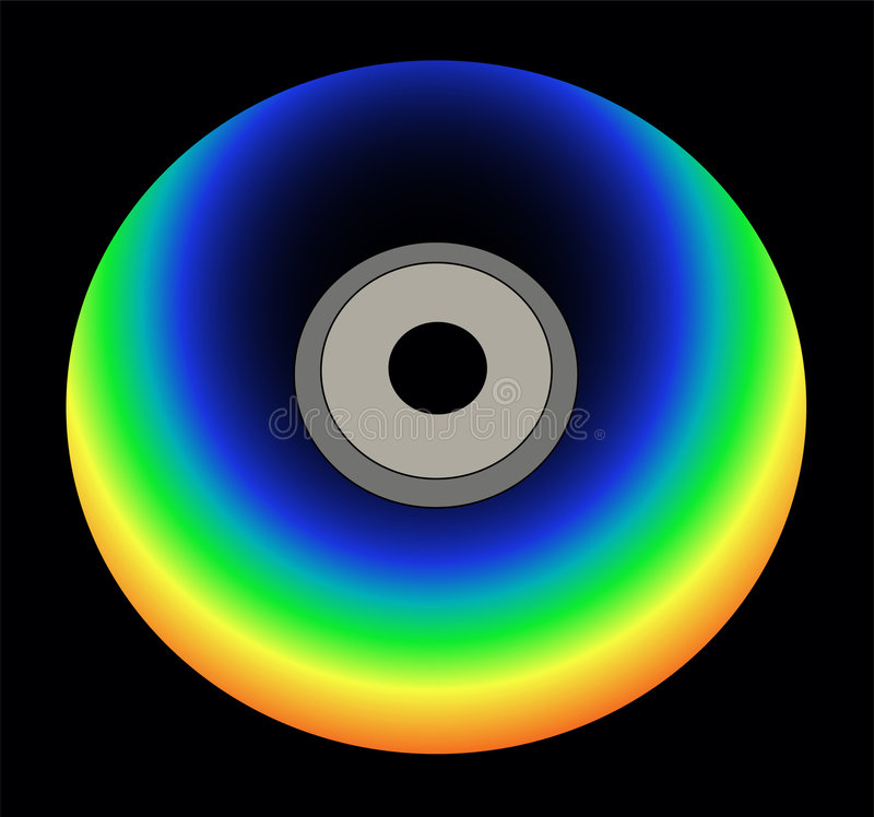 Download Rainbow color cd stock vector. Image of color, copy, information - 7228218