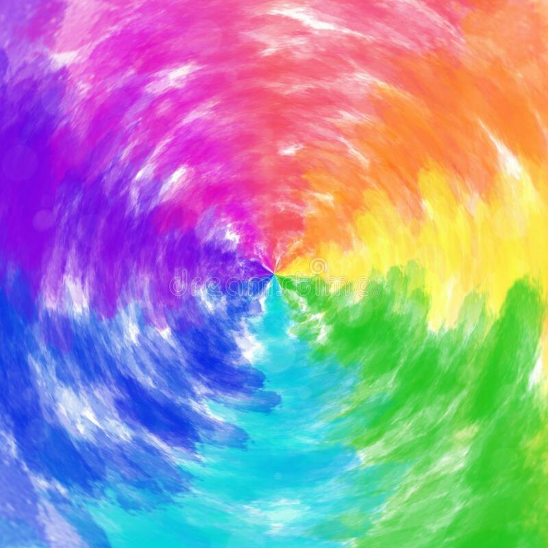 Free Rainbow Color In One Frame Watercolor Circle Pattern Parallel Circular Inter Mixing  Background Stock Photos - 188479393