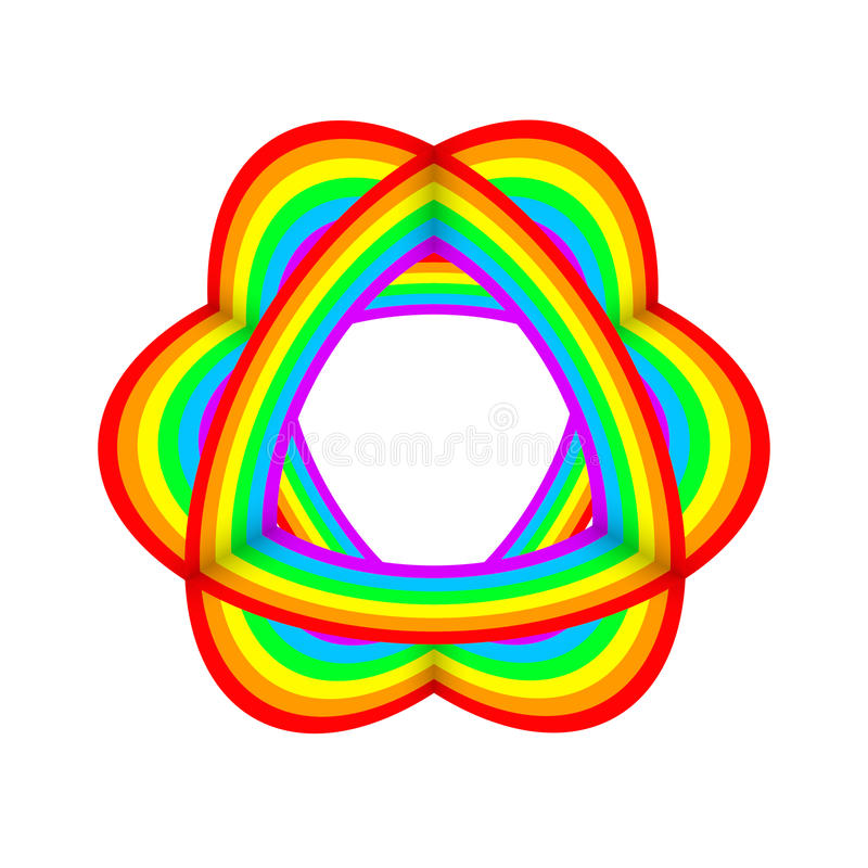 Rainbow color object abstract decorative art royalty free illustration