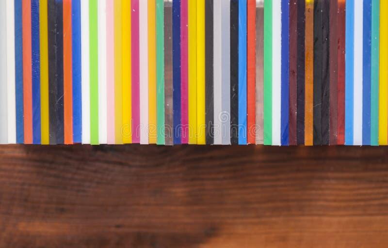 Rainbow color palette stock images