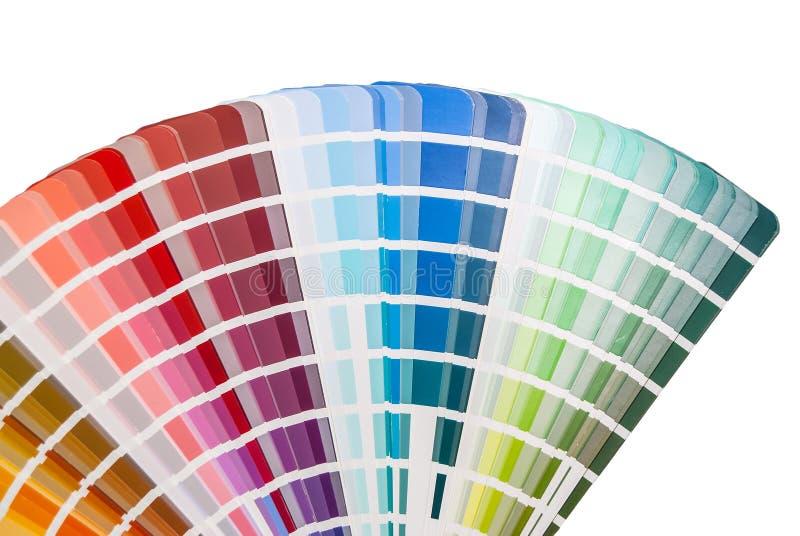 Rainbow color palette stock image