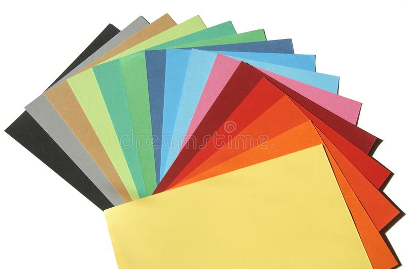 Rainbow color palette isolated on white royalty free stock photography
