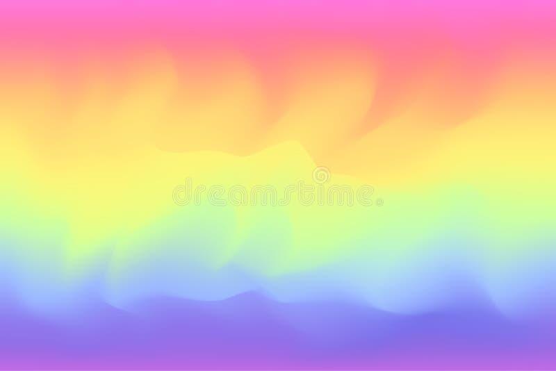 Rainbow color soft colorful painting watercolor background art. The rainbow color soft colorful painting watercolor background banner art style rainbow, rainbow stock illustration