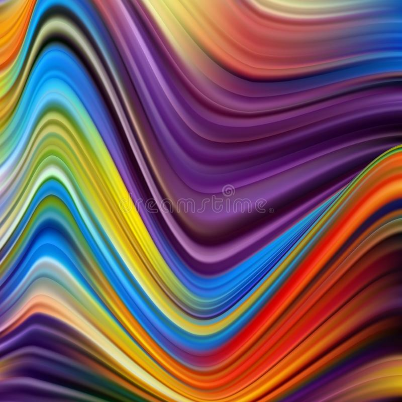 Rainbow color waves, vector blurred abstract background. Vector artistic illustration for presentation, app wallpaper, banner or stock image
