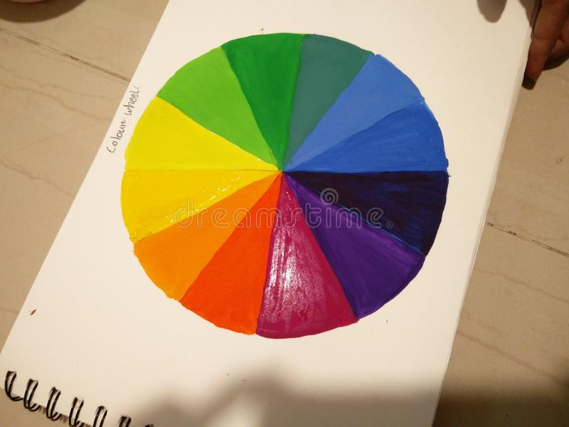 Color wheel. Rainbow color wheel royalty free stock images