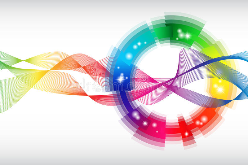 Rainbow colored abstract template royalty free illustration