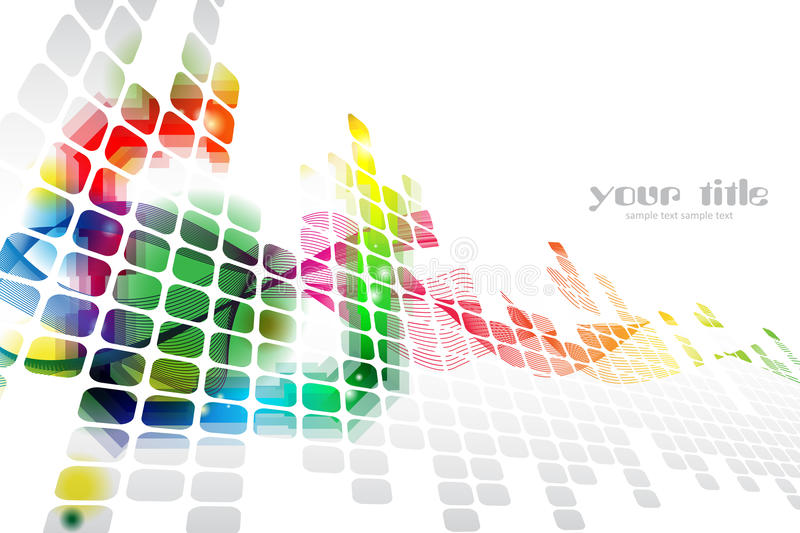 Rainbow colored abstract template vector illustration